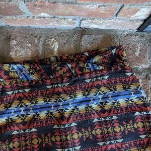 Volcom Stone Aztec Print Zip Up Mini Skirt